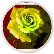 Fauvism Roses Triptych Round Beach Towel