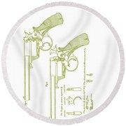 F.b.e Beaumont Revolver Patent Round Beach Towel