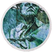 Fdr - 3164 Watercolor 2 Hp Round Beach Towel
