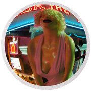 Fear And Loathing In My Vegas Round Beach Towel
