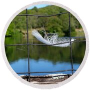 Feather And Fence Round Beach Towel