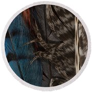 Feather Collection Round Beach Towel