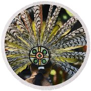 Feather Crown Round Beach Towel