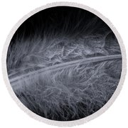Feather Droplets Round Beach Towel