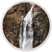 Feather Falls Round Beach Towel
