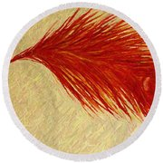Feather Round Beach Towel