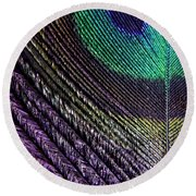 Feather Of A Different Color Round Beach Towel