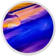 Feather Sunset Round Beach Towel