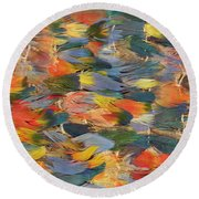 Feathered Cape Round Beach Towel