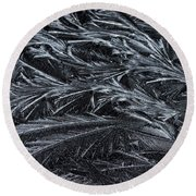 Feathered Ice Round Beach Towel