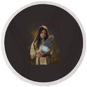 Feathers And Light Round Beach Towel