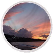 Feathers In The Sky Round Beach Towel