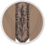 Feathers Thorns And Broken Arrow Bookmark No1 Round Beach Towel