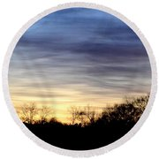 February 1 Dawn 2013 Round Beach Towel