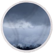 February Storm Clouds 2013 Round Beach Towel