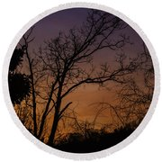 February Sunrise Round Beach Towel