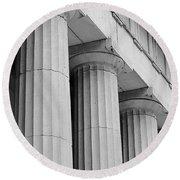 Federal Hall Columns Round Beach Towel