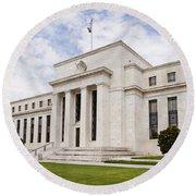 Federal Reserve Building No2 Round Beach Towel