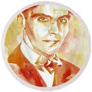 Federico Garcia Lorca Portrait Round Beach Towel