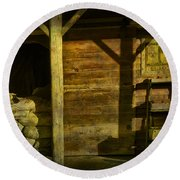 Feed Mill Store Round Beach Towel by Randall Nyhof