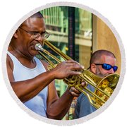 Feel It - New Orleans Jazz  Round Beach Towel