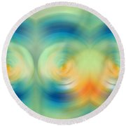 Feel Joy - Energy Art By Sharon Cummings Round Beach Towel