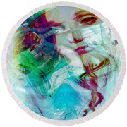 Feeling Abstract Round Beach Towel