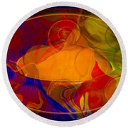 Feeling At Home With Uncertainty Abstract Healing Art Round Beach Towel