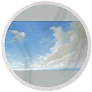 Feeling Of Freedom Round Beach Towel