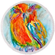 Feeling Owlright Round Beach Towel