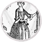 Female Continental Soldier Round Beach Towel