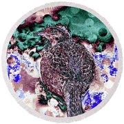 Female Pheasant Abstract Round Beach Towel