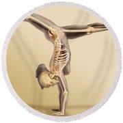 Female Skeletal System Round Beach Towel