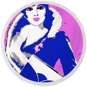 Femme Fatale Premeditated Spring Beauty Round Beach Towel
