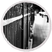 Fence At Eight  Round Beach Towel