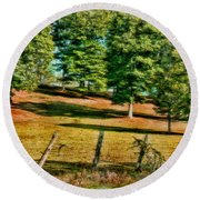Fence - Featured In Comfortable Art Group Round Beach Towel