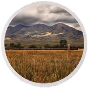 Fence View Round Beach Towel