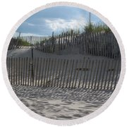 Fenced Dune Round Beach Towel
