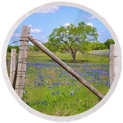 Fenced-in Beauty Round Beach Towel by Lynn Bauer