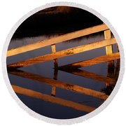 Fenced Reflection Round Beach Towel