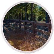 Fenceline 1 Round Beach Towel