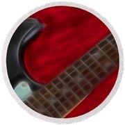 Fender-9657-fractal Round Beach Towel