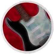 Fender-9668-fractal Round Beach Towel