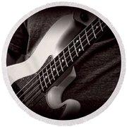 Fender Bass Round Beach Towel