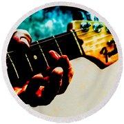 Fender Strat Round Beach Towel by Bob Orsillo