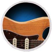 Fender Stratocaster Curves Round Beach Towel