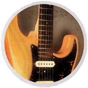 Fender Stratocaster Electric Guitar Round Beach Towel