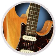 Fender Stratocaster Electric Guitar Natural Round Beach Towel