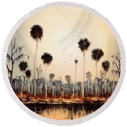 Fenholloway River Florida Round Beach Towel