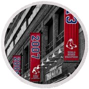 Fenway Boston Red Sox Champions Banners Round Beach Towel